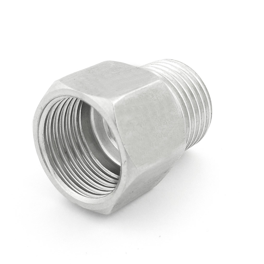 Pipe Reducer Male 1/2PT to Female 1/2NPT Stainless Steel Hex Bushing Hose Joint Connector