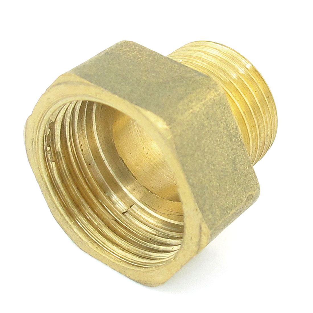 Hydraulic 1/2PT Male to 3/4PT Female Thread Pipe Hex Reducing Bushing Adapter
