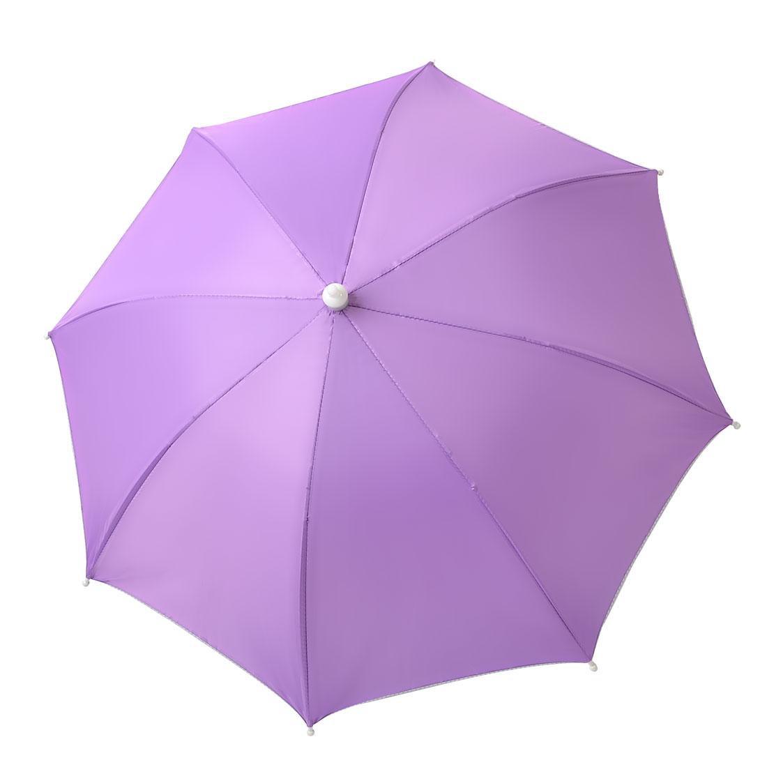 Outdoors Sports Purple Elastic Headband Handfree Umbrella Headwear Hat