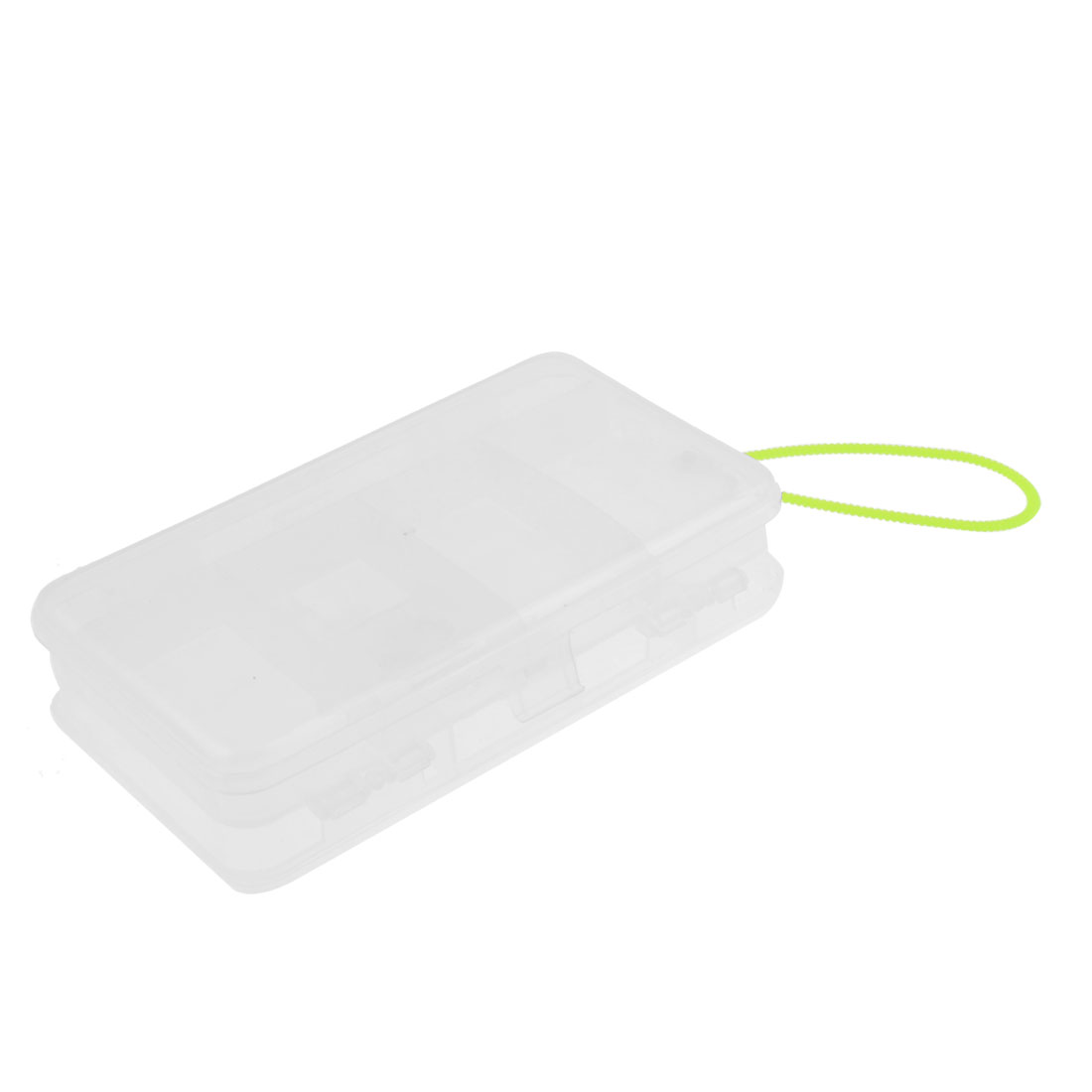 Clear Rectangle Plastic 11 Compartment Fishing Hook Holder Case