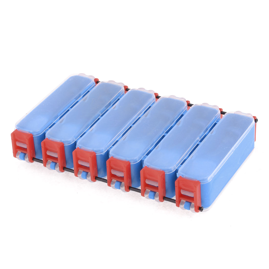 Double Side 12 Compartments Blue Red Clear Fishing Lure Tackle Box