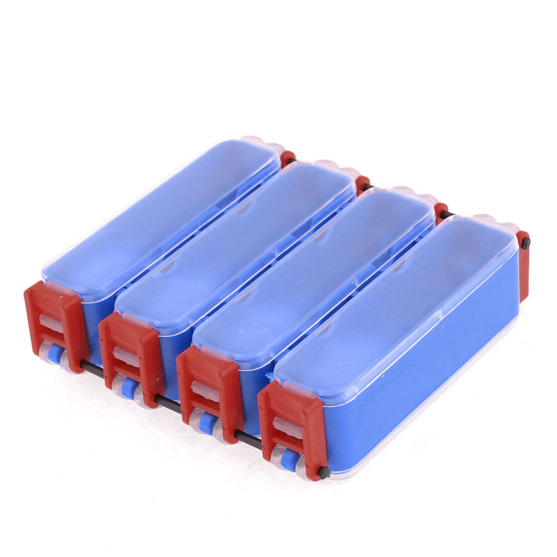 Double Side 8 Compartments Blue Red Clear Fishing Lure Tackle Box
