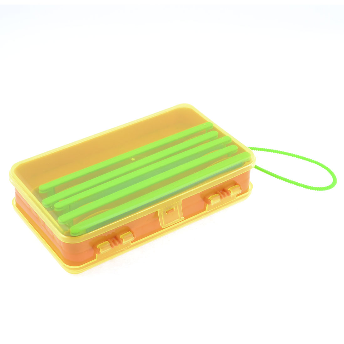 12 Compartments Dual Layers Fishing Branching Line Box Case w Plastic Handle