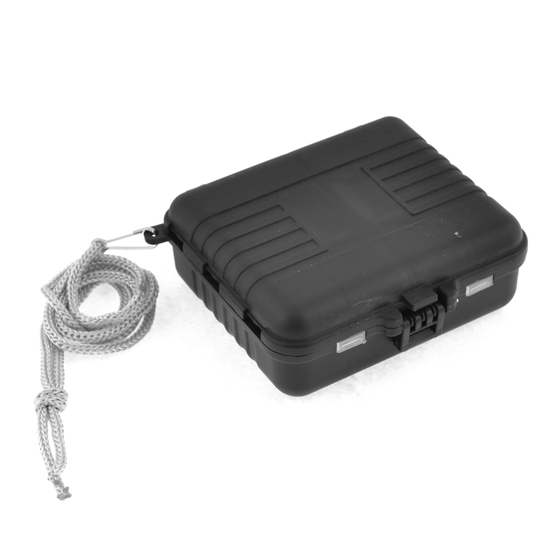 Black Square 19 Slots Fishing Lure Fish Hook Plastic Storage Case Box