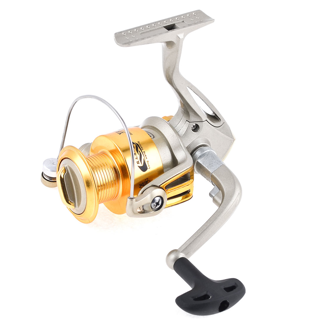 5.5:1 Gear Ratio 5 Ball Bearings Champagne Metallic Angling Spinning Reel