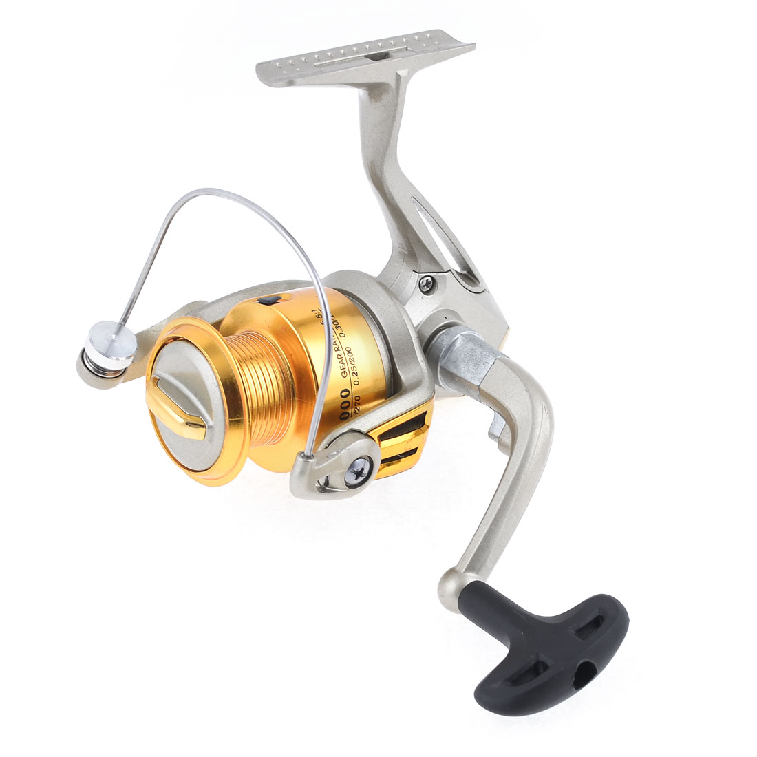 5.5:1 Gear Ratio 5 Ball Bearings Champagne Metal Fishing Spinning Reel