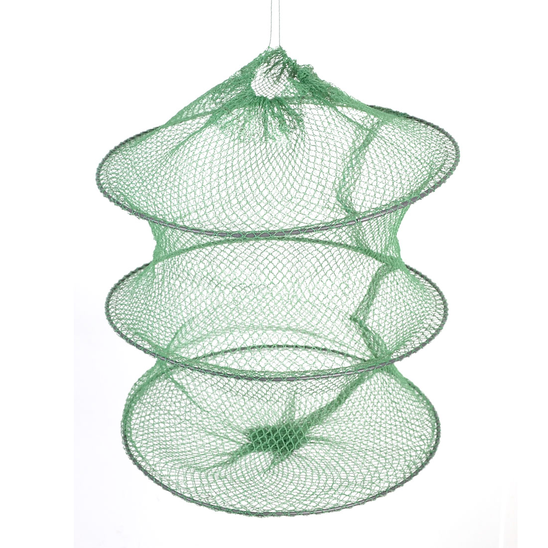 Collapsible 2 Sections Lobster Drawstring Closure Fishing Keep Net