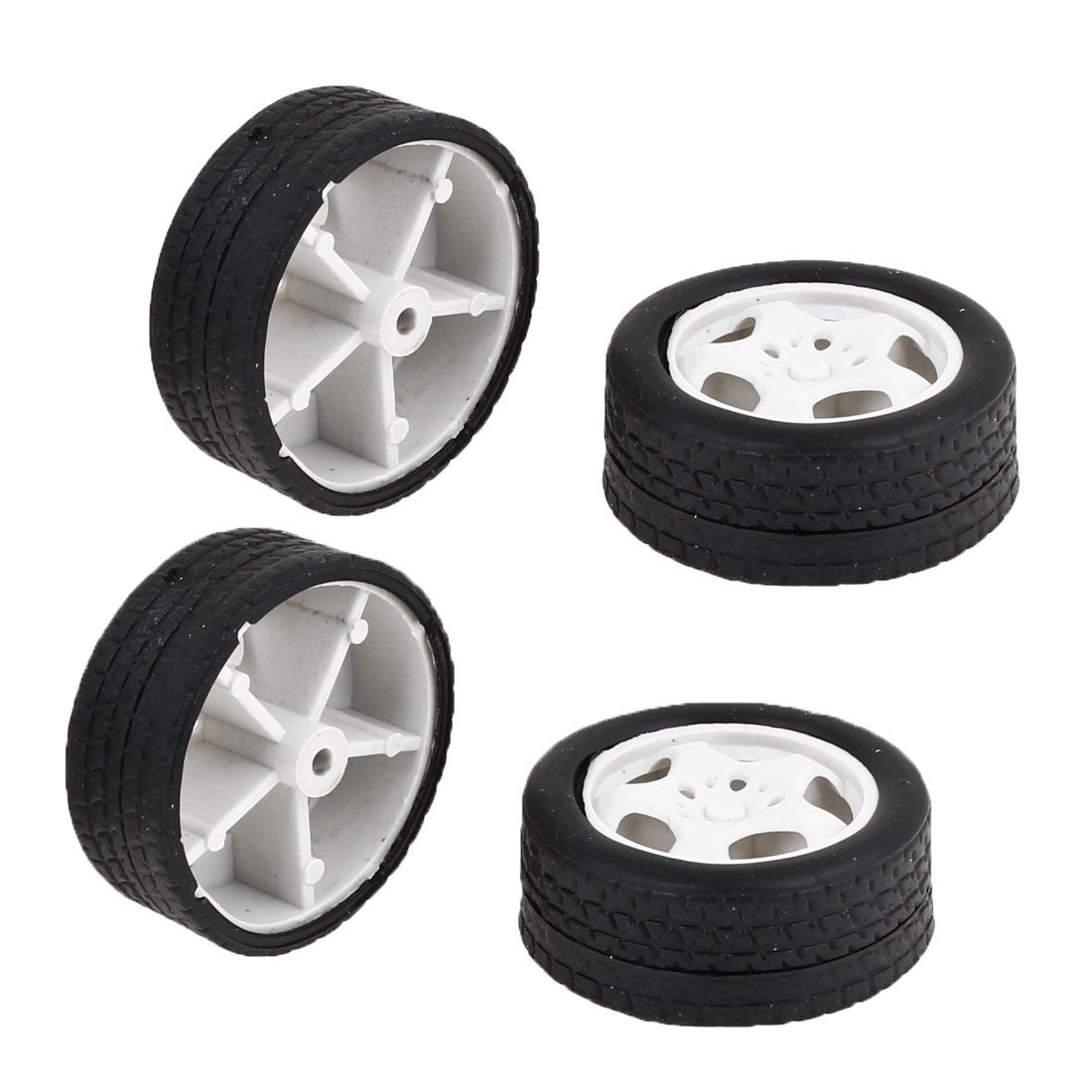 Children Toy Car Truck Vehicles 34mm Dia Rubber Roll Wheels Replacement 4 Pcs