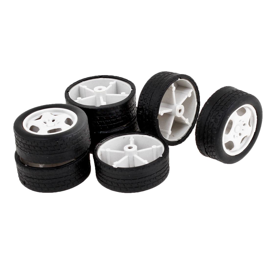 Children Toy Car Bus Truck 34mm Diameter Rubber Roll Wheels Replacement 7 Pieces