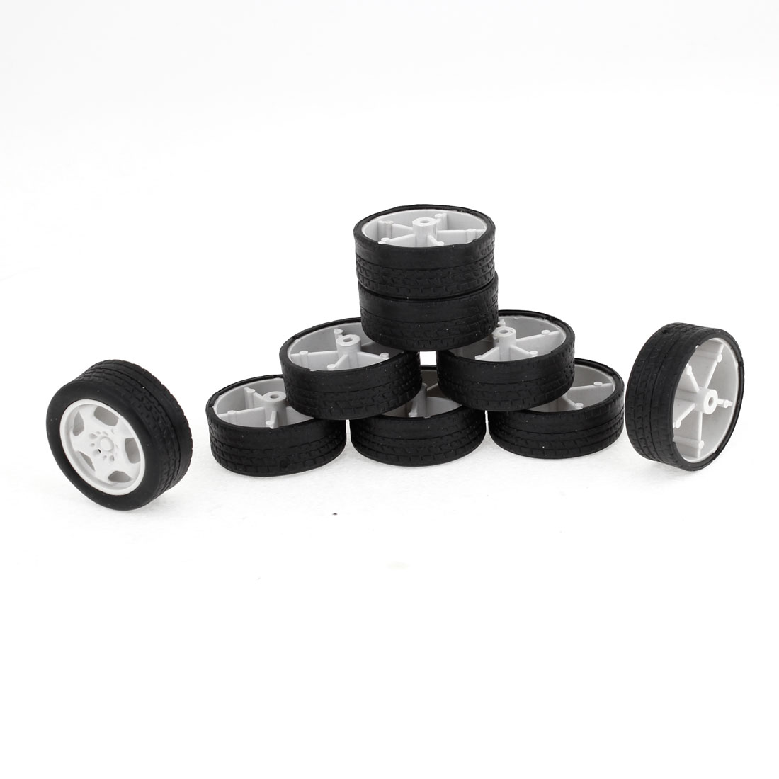 Children Toy Car Bus Truck Vehicle 34mm Dia Rubber Roll Wheels Replacement 9PCS