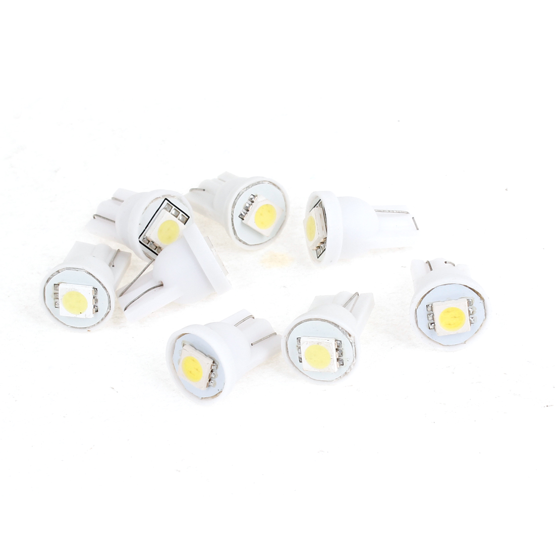 8 Pcs T10 194 168 W5W White 5050 1-SMD LED Dashboard Light Bulbs 12V for Car