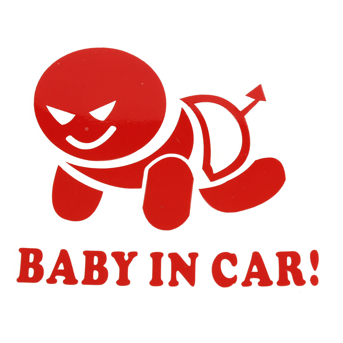 Baby in Car Printed Safety Sign Self Adhesive Decal Sticker Red for Car