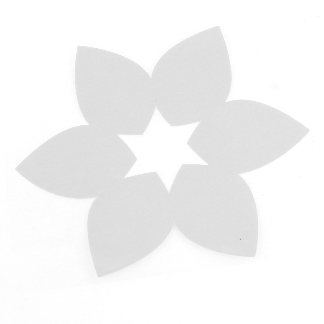 Flower Pattern Self Adhesive Decal Sticker Silver Tone for Car Auto