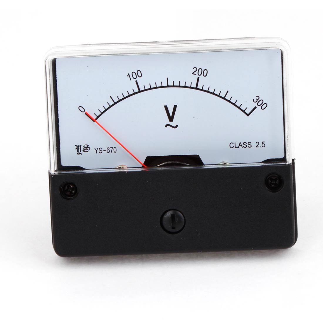 Class 2.5 Accuracy AC 0-300V Panel Gauge Rectangular Voltage Meter