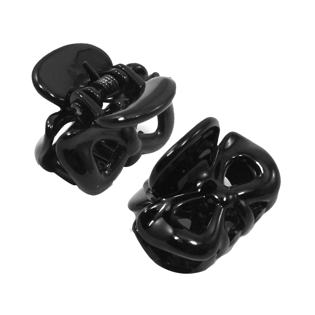 2 Pcs Black Plastic Hairpin Hair Claw for Ladies