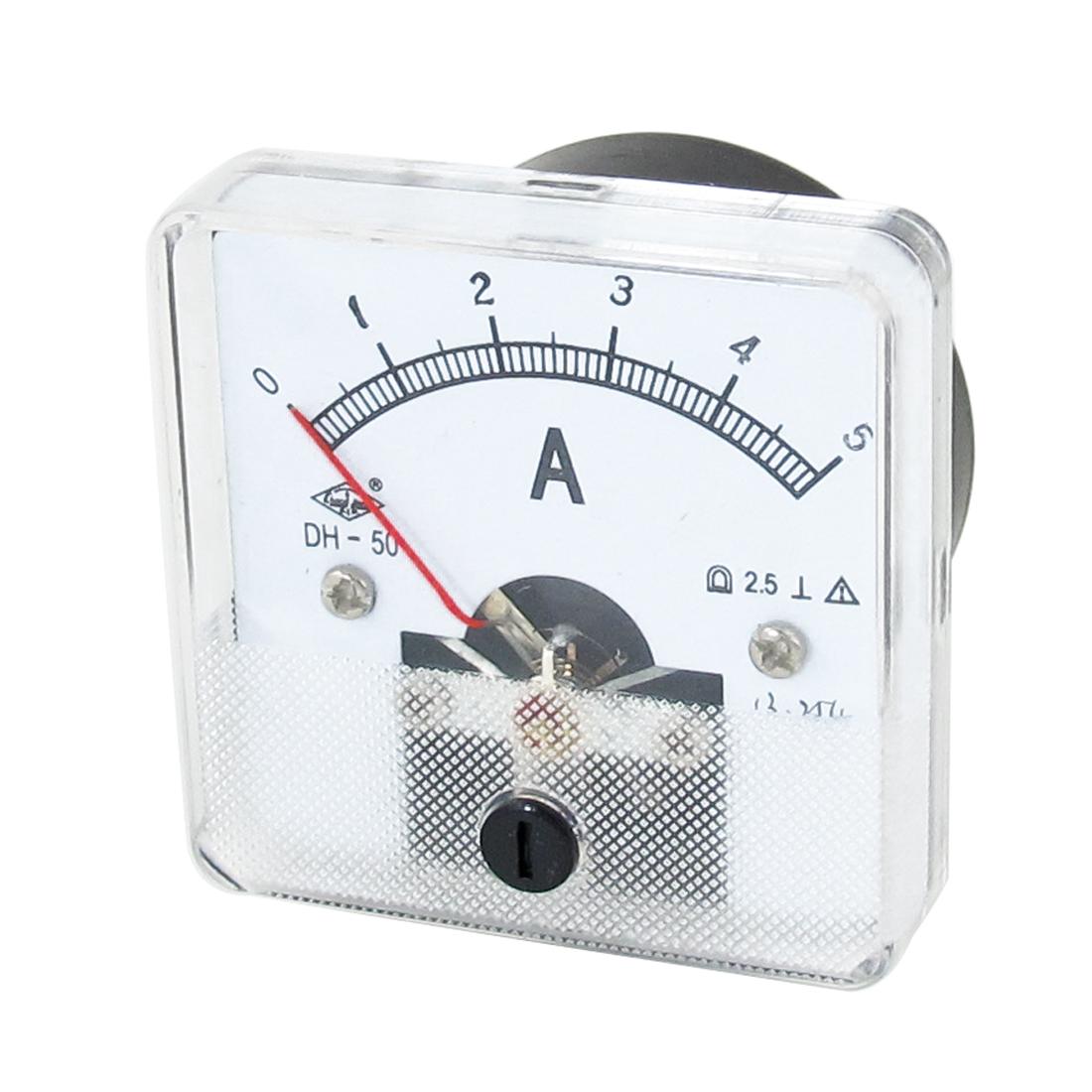 DH-50 DC 0-5A Analog Amperemeter Panel Meter Gauge