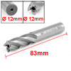 12mm Dia Tip 12mm Shank Diameter Straight Shank 4 Flutes End Mill