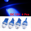 4 Pcs 12VDC T10 Blue LED Car Auto Dashboard Dash Lights Lamp Bulbs