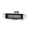 Cylinder Plastic Blue Backlight LCD Display Digital Clock Thermometer for Car