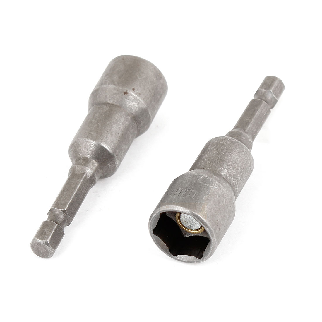 2 x 65mm Long Hex Power 13mm Socket Nut Driver Setters Bits