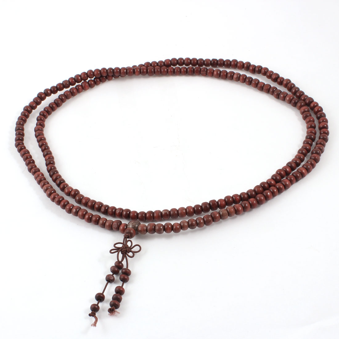 Unisex Sandalwood Prayer Beads Buddha Buddhist Necklace 106cm Chocolate Color