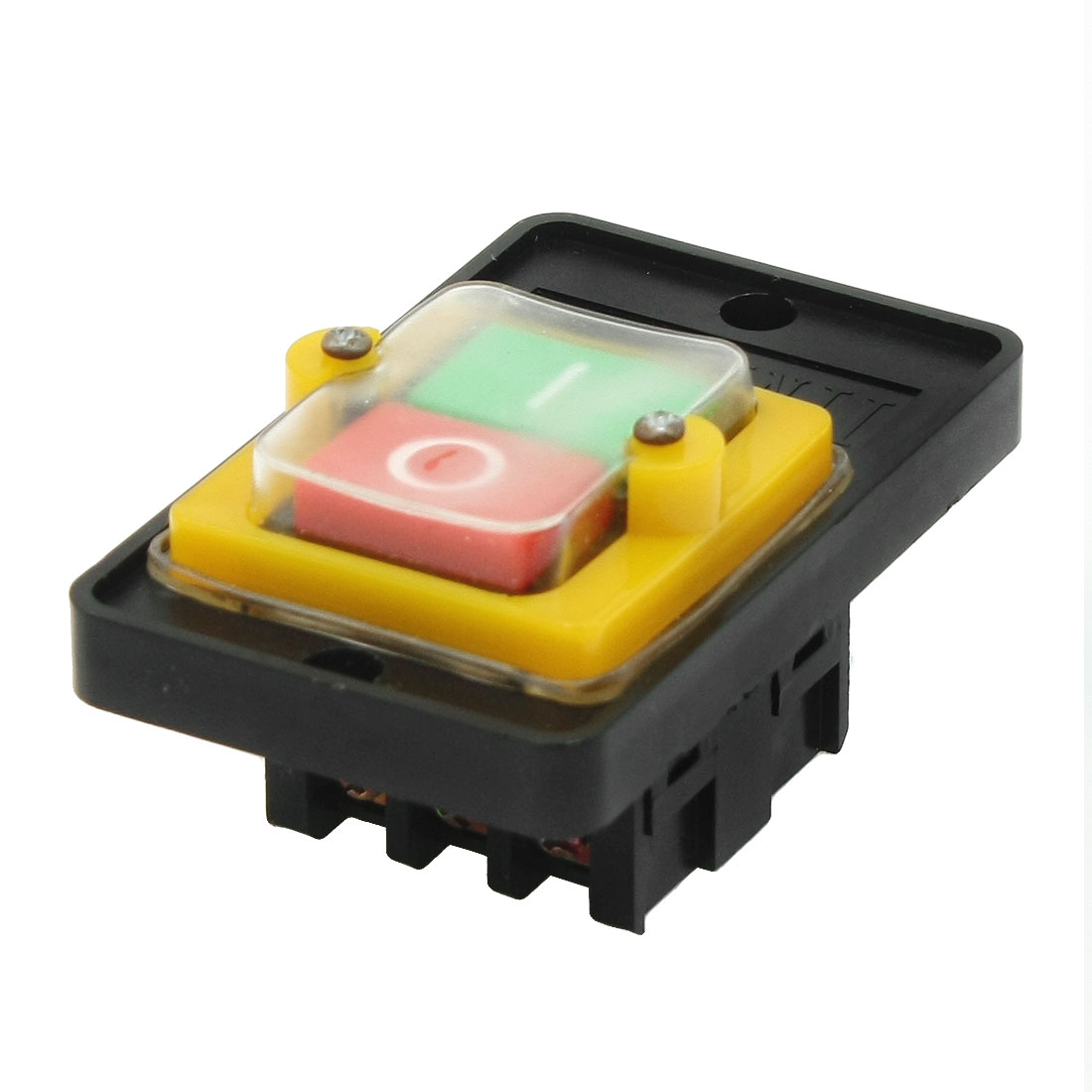 AC 220V/380V 10A Self Locking Water Resistant I/O ON/OFF DPDT Push Button Switch
