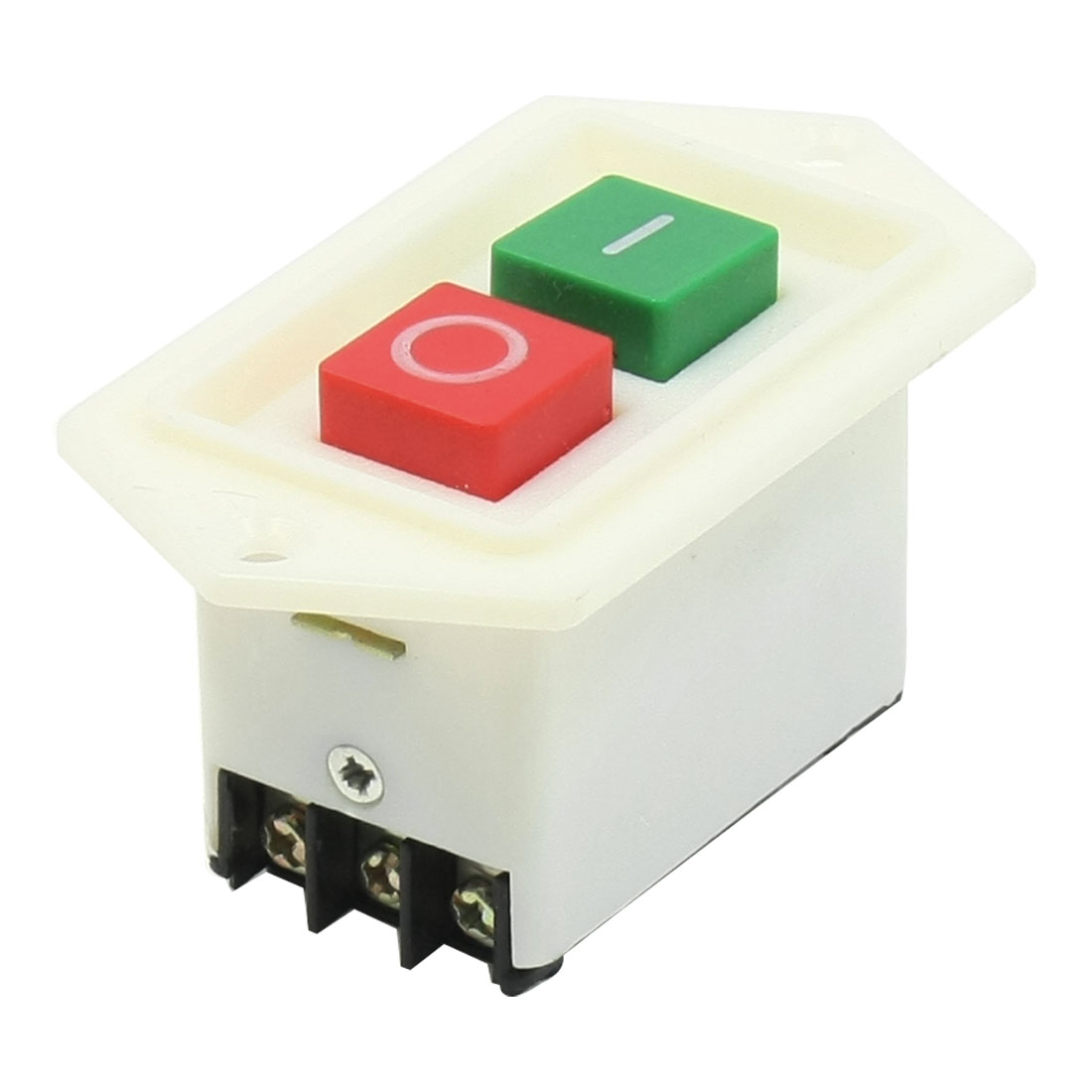 AC 380V 10A 2 Button DPDT I/O Self Locking Panel Mount Pushbutton Switch