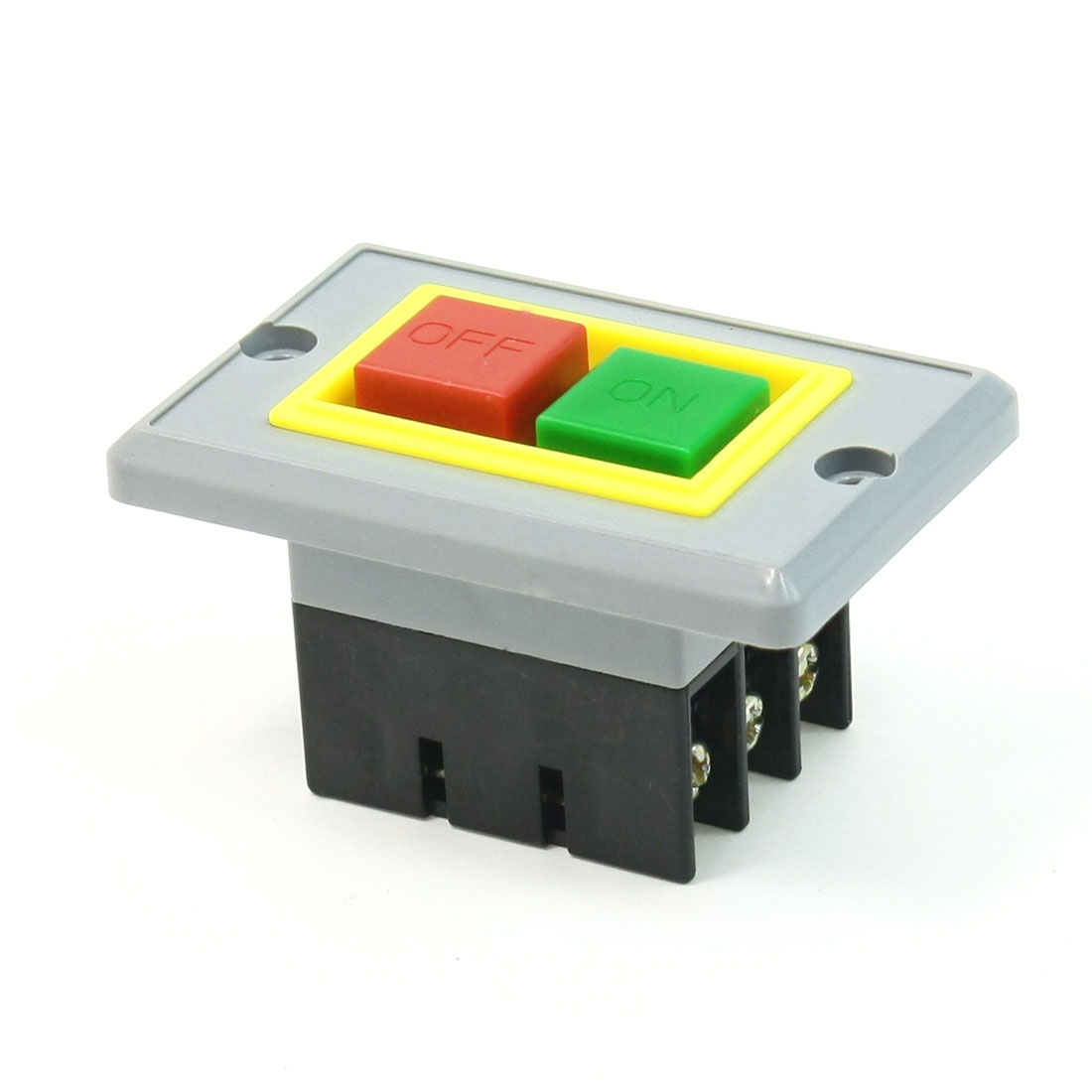 AC 380V 5A Self Locking DPDT ON/OFF Start Stop Push Button Switch