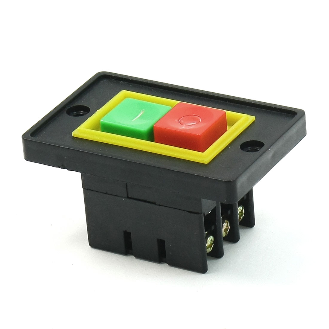 Plastic Shell I/O ON/OFF DPDT 6 Screw Terminals Push Button Switch AC380V 2KW