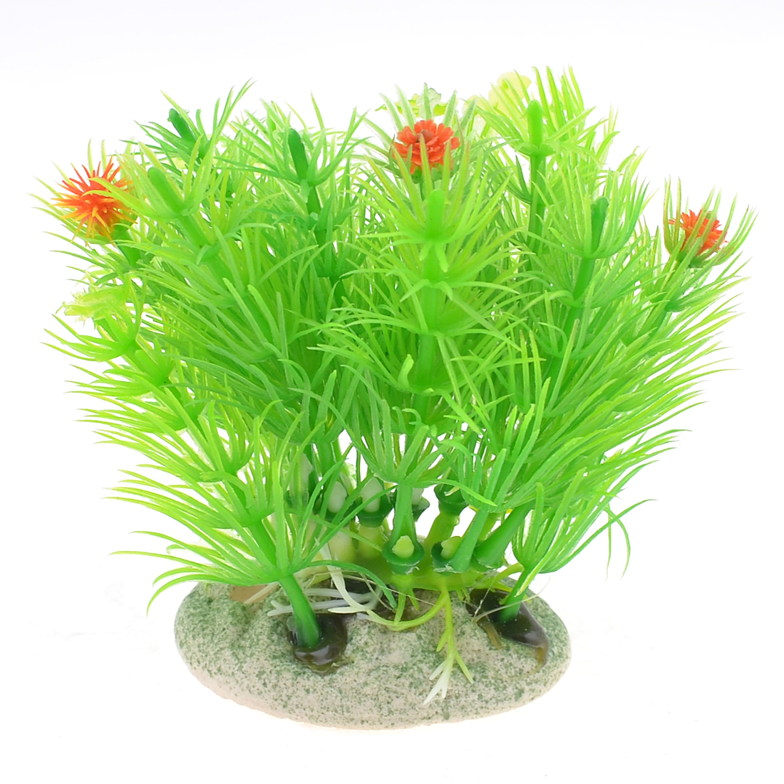 "Fish Tank Aquarium Decor Plastic Green Grass Plant 3.3"" Height"