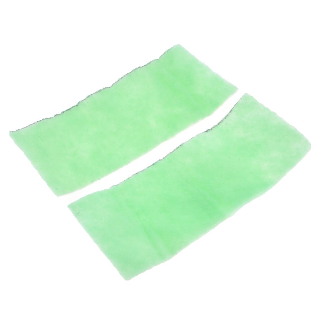 "2 Pcs 11.4"" Long Biochemical Filter Sponge for Fish Tank Green White"