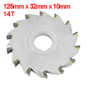 125mm x 32mm x 10mm 14T Round Groove Three Side Blade Slitting Saw Cutting Tool