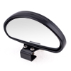Black Plastic Shell Oval Shaped Screw Fixed Vehicle Rear View Blind Spot Mirror
