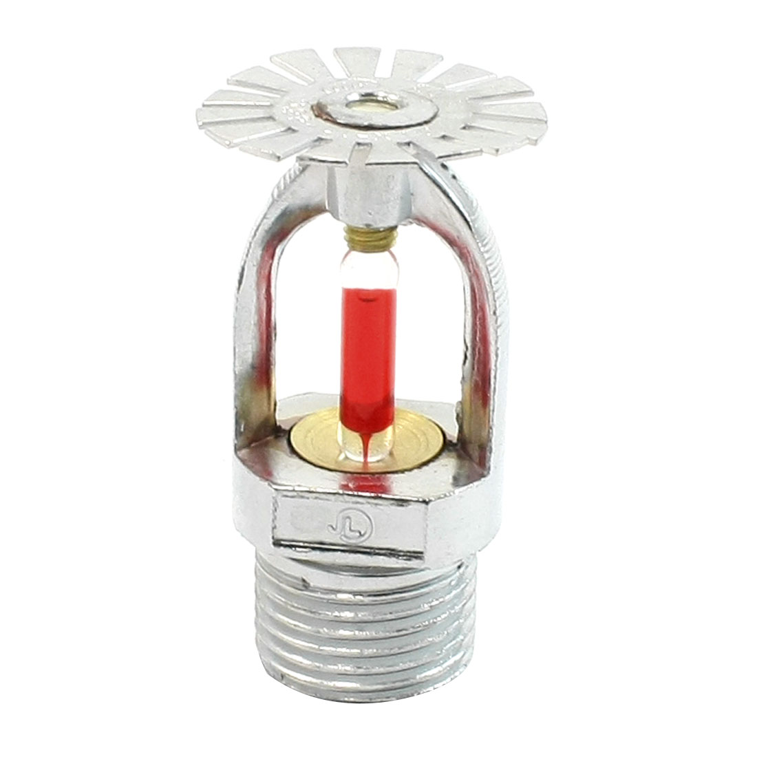 Red Bulb Silver Tone 20mm Dia Thread Water Spraying Fire Sprinkler Head