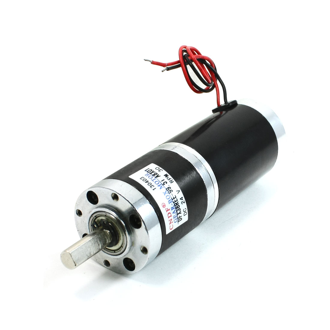 30RPM Rotary Speed DC 24V High Torque 8mm Dia Shaft Magnetic Geared Motor