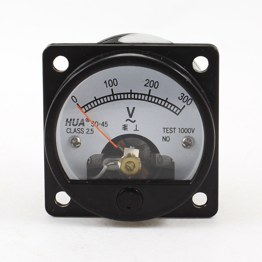 AC 0-300V Fine Tuning Dial Panel Analog Voltage Meter Voltmeter Black