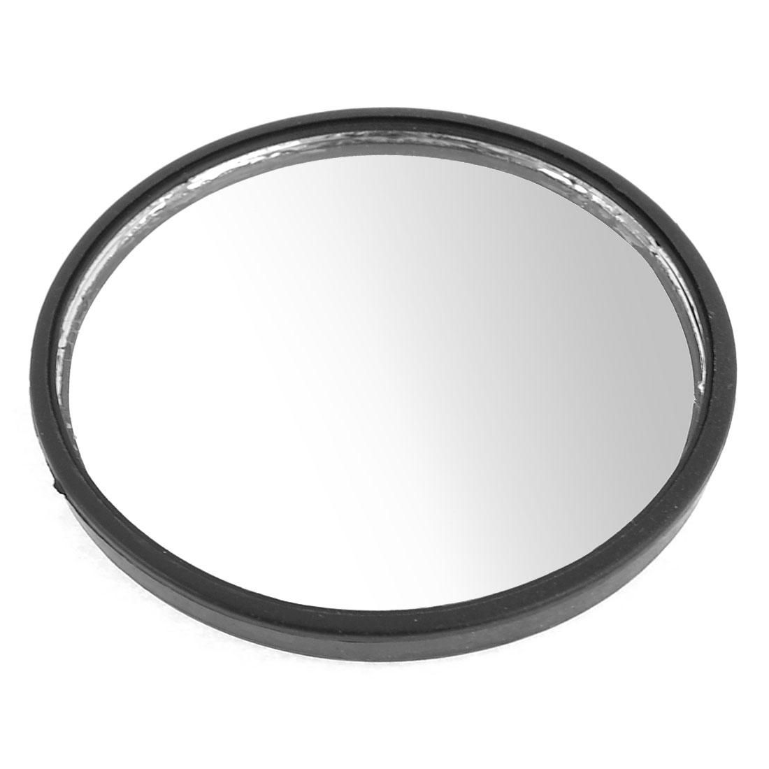 """Car Safety 2"""" Stick On Round Convex Blind Spot Mirror Black"""