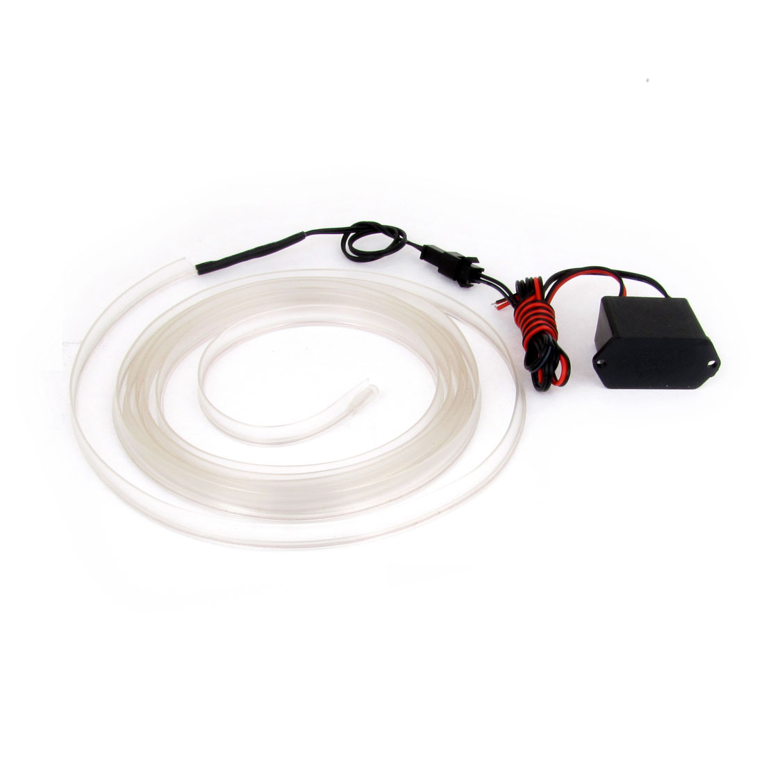 White EL Wire Neon Flexible Glow Lighting String 2M for Car Dance Party