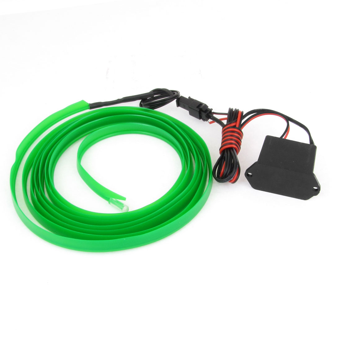 Green 2M Sewable EL Wire Neon Glow Light Rope Sew Tag Strip w Controller