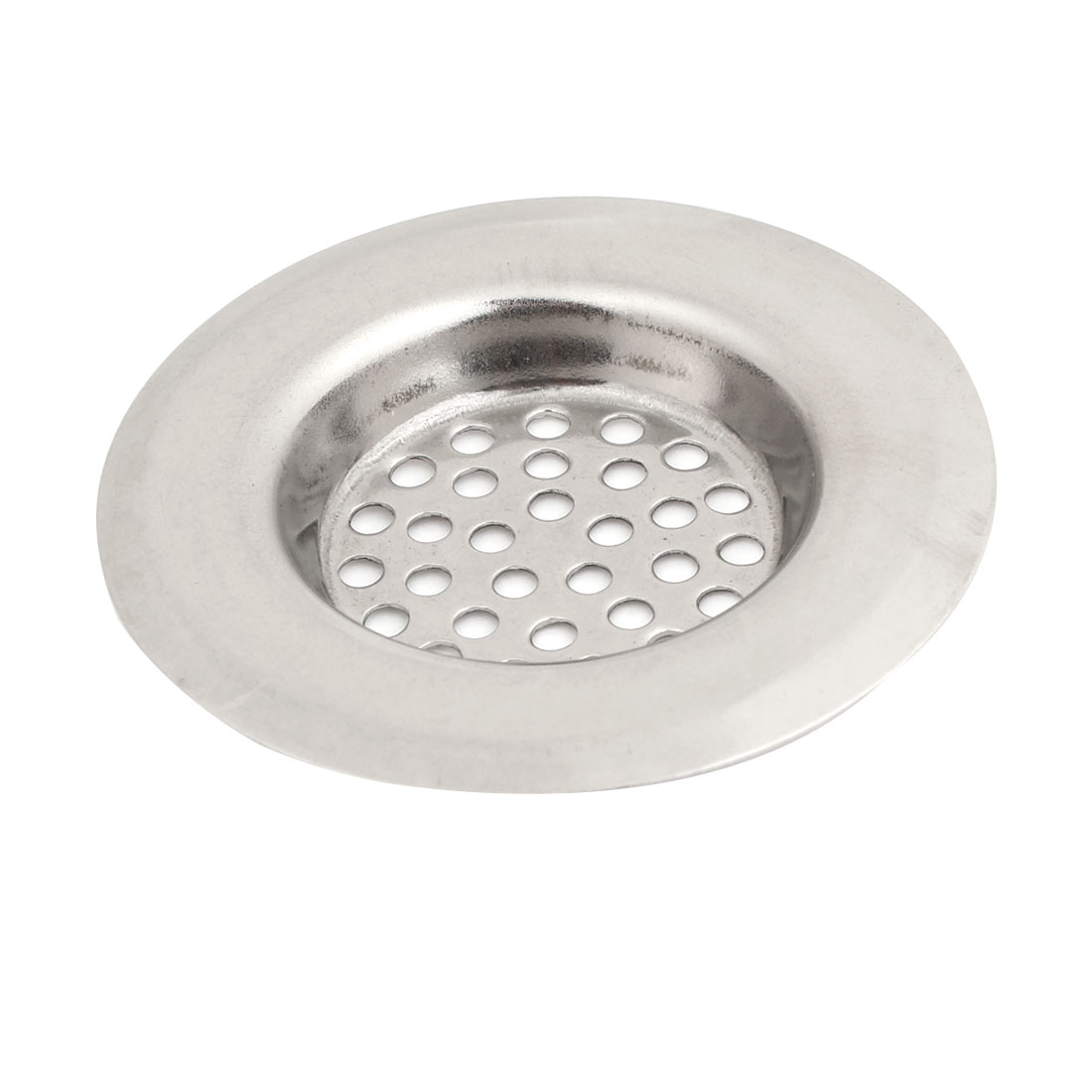 Home Silver Tone Stainless Steel Water Sink Drainer Strainer 2.5 Inch Dia