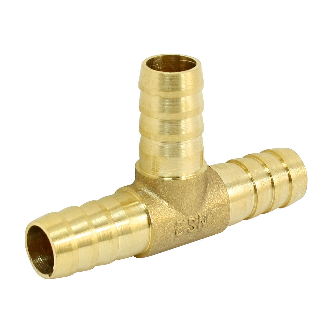 Brass T Hose Barb Connetor Adapter for 12mm Inner Dia Air Gas Pipe