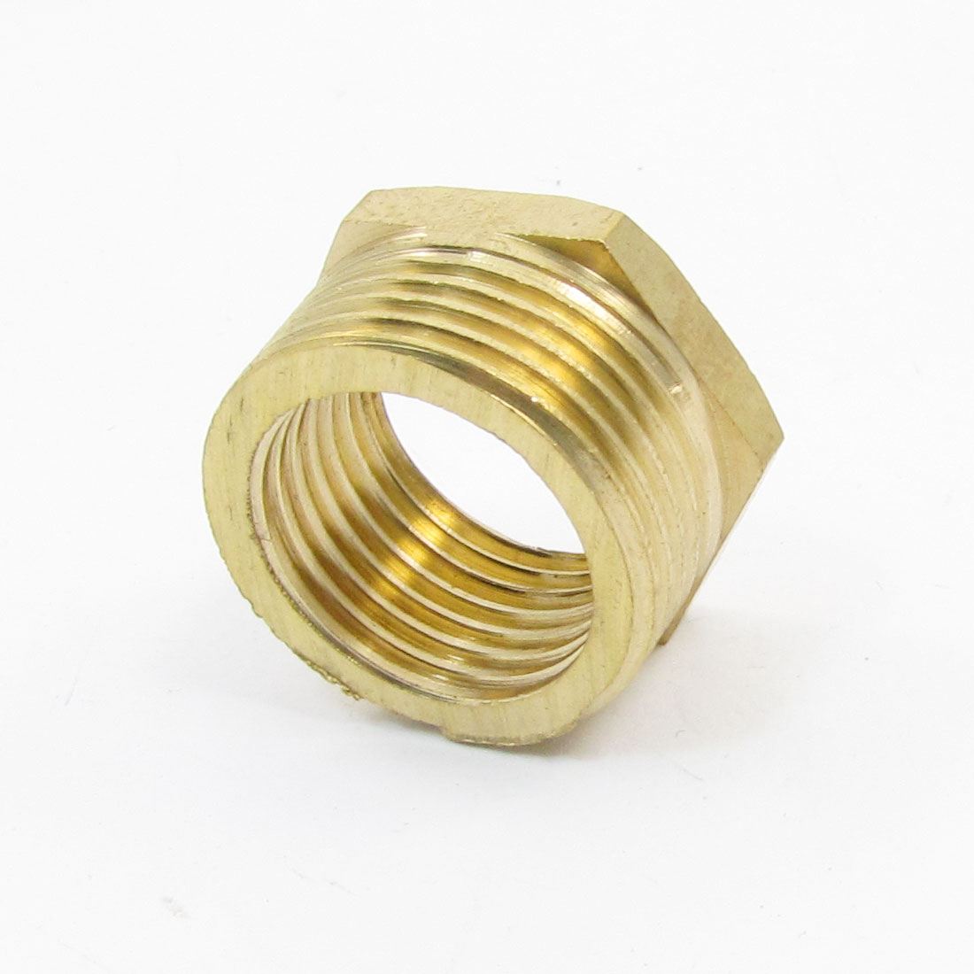 "3/4"" PT Male to 1/2"" PT Female Hex Threaded Bushing Piping Connector Adapter"