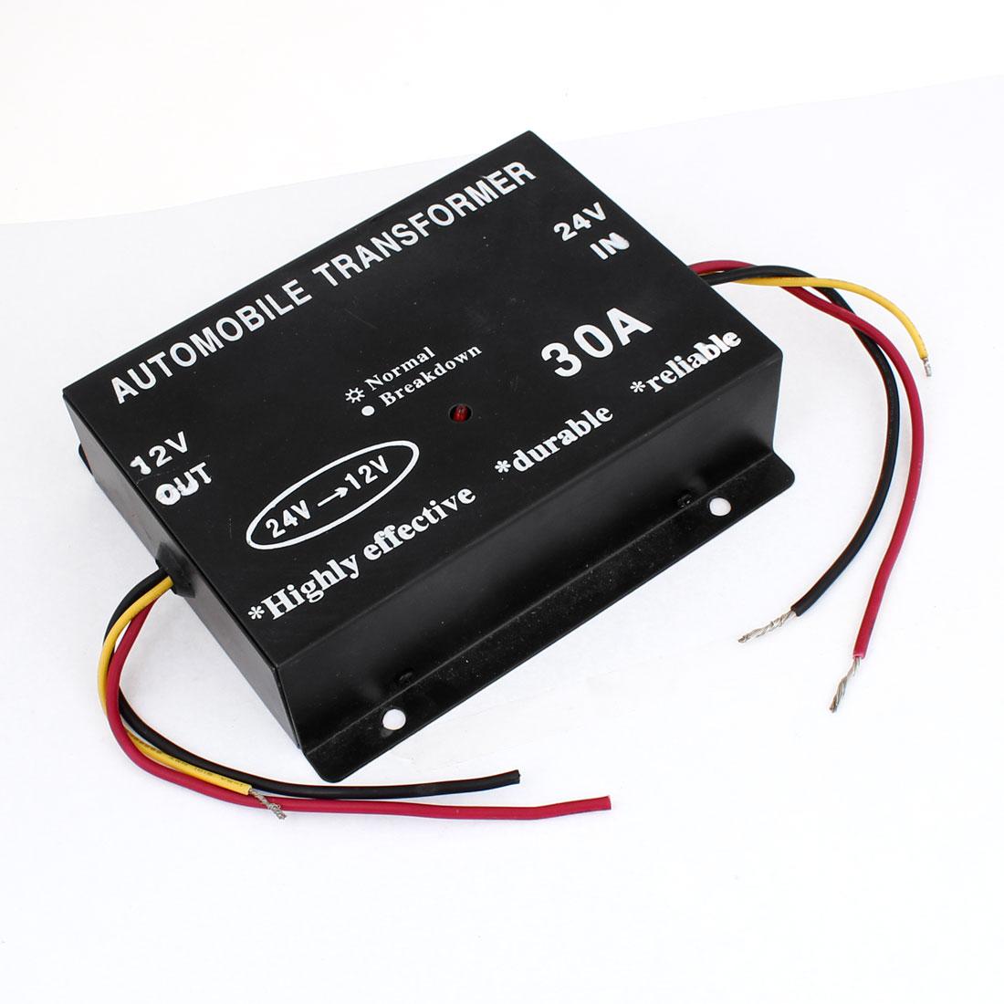 30A DC 24V to 12V Car Auto Power Supply Transformer Reducer Converter w Memory