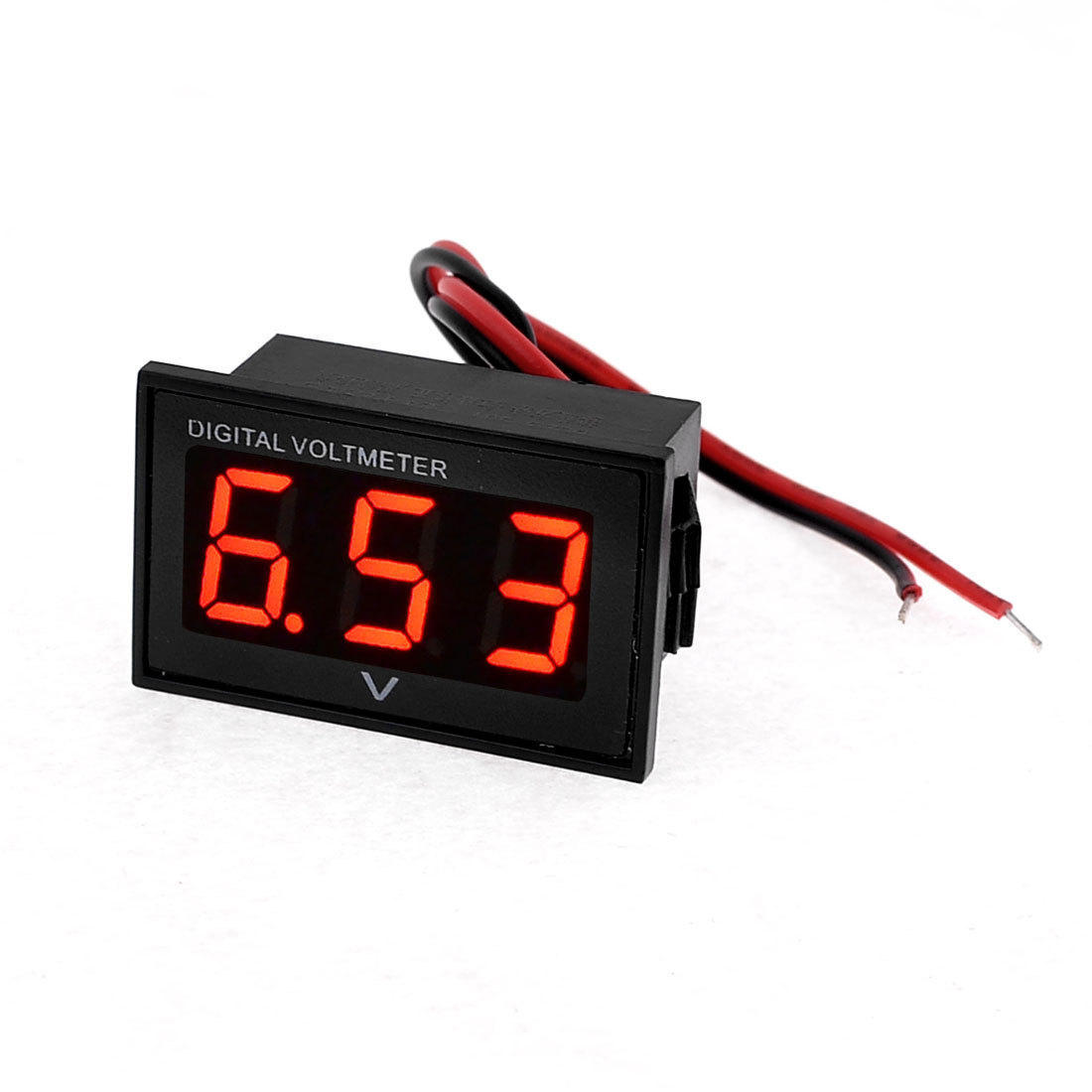 Red Digital LED Car Truck Voltmeter Gauge Voltage Volt Panel Meter DC 2.5V-30V