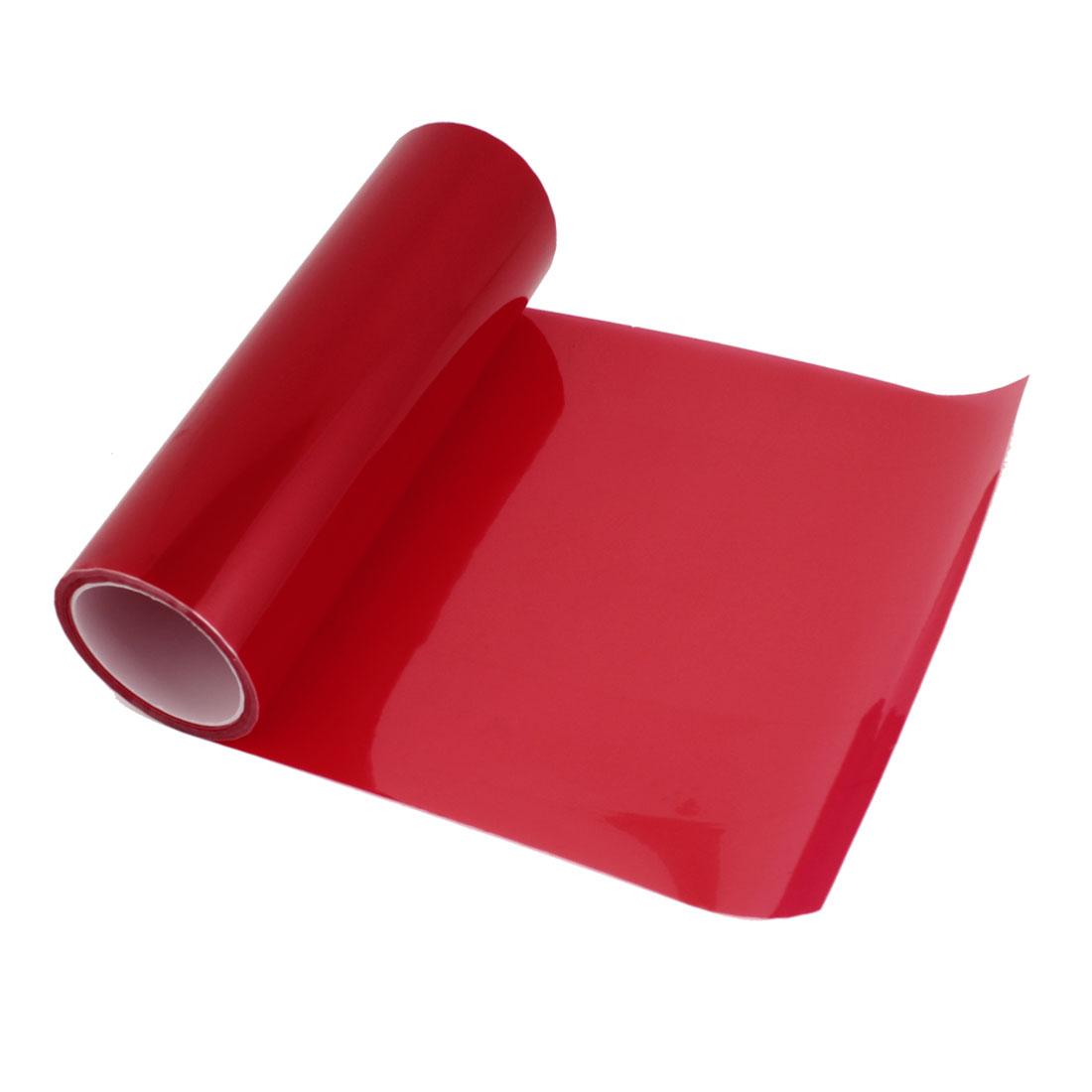 Vehicle Car Headlight Taillight Vinyl Film Sticker Protector Red 970cm x 30cm