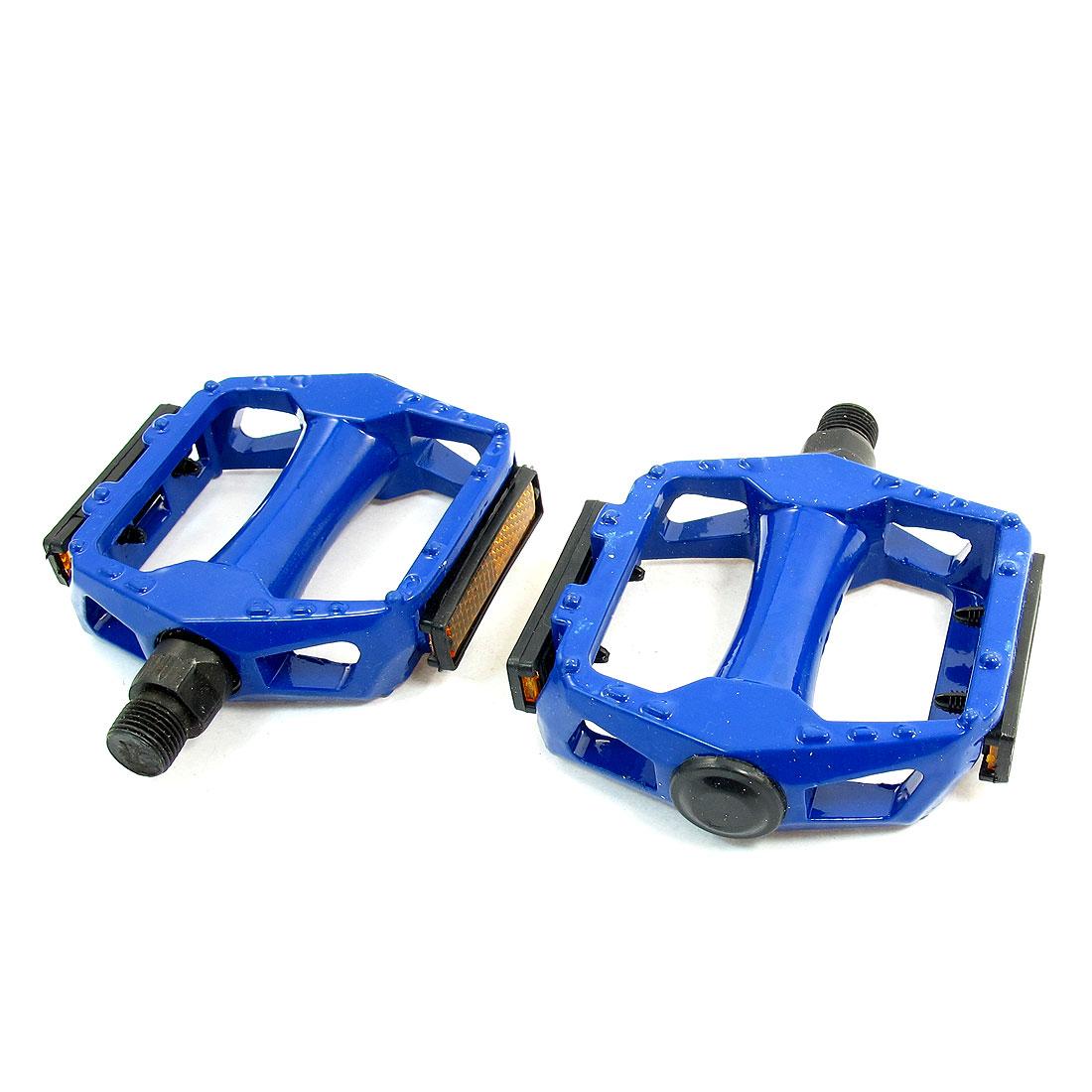 "2 x Blue Metal BMX Bike Pedals MTB Mountain Bicycle Platform 3"""