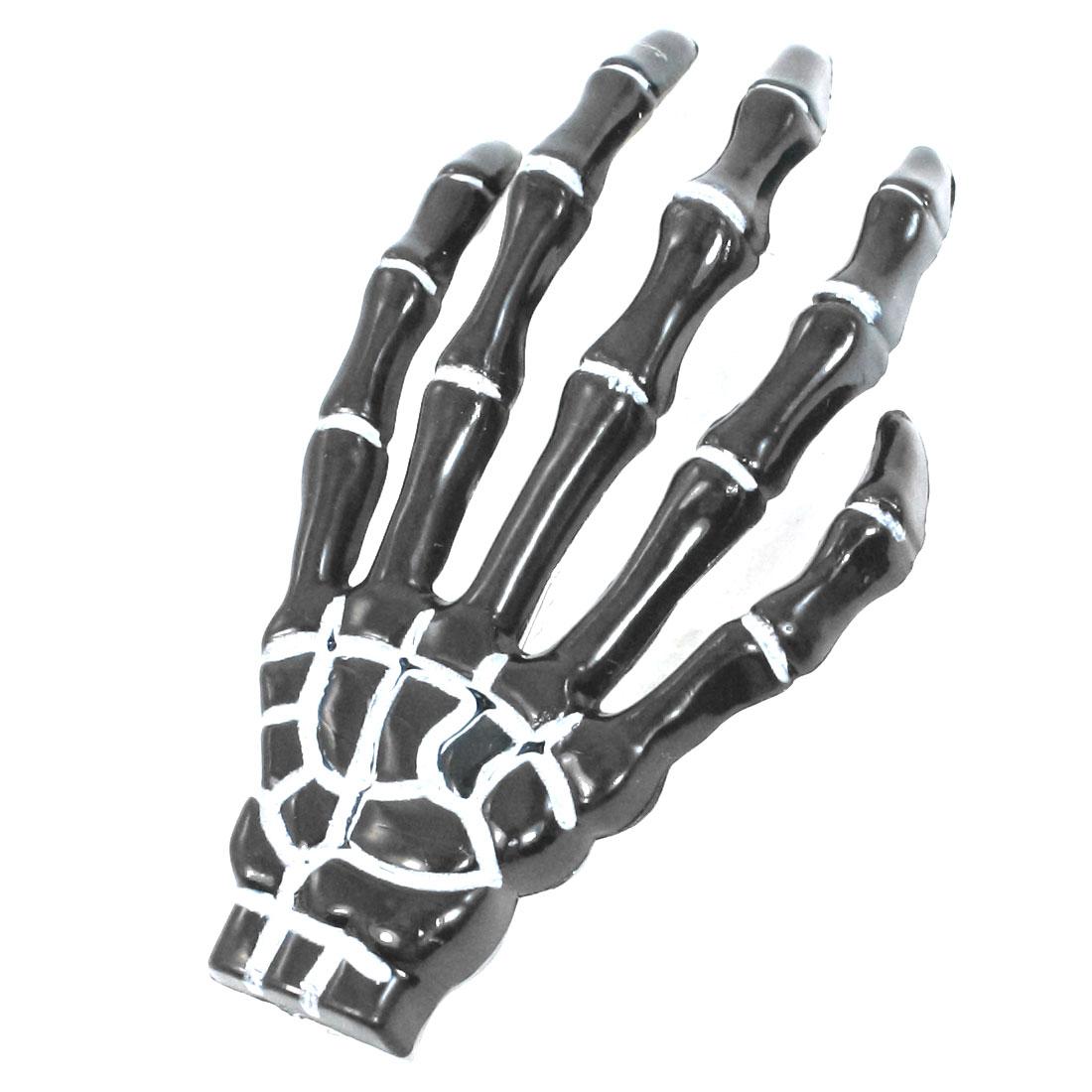 Black Skeleton Hands shape Metal Teeth Alligator Hairpin Hair Clips