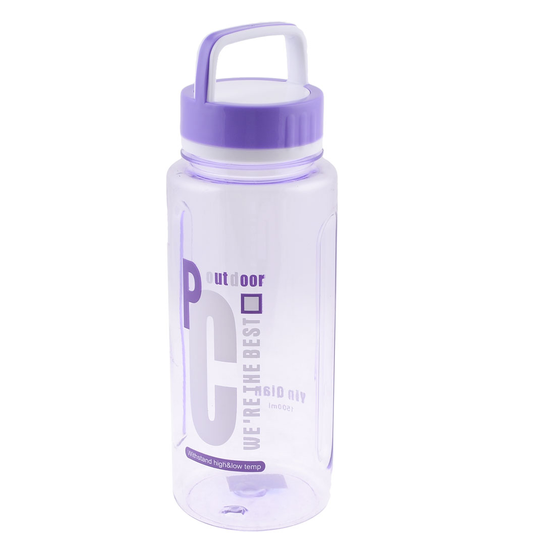 Outdoor Sports Purple Plastic Tea Water Bottle Container 1500ml