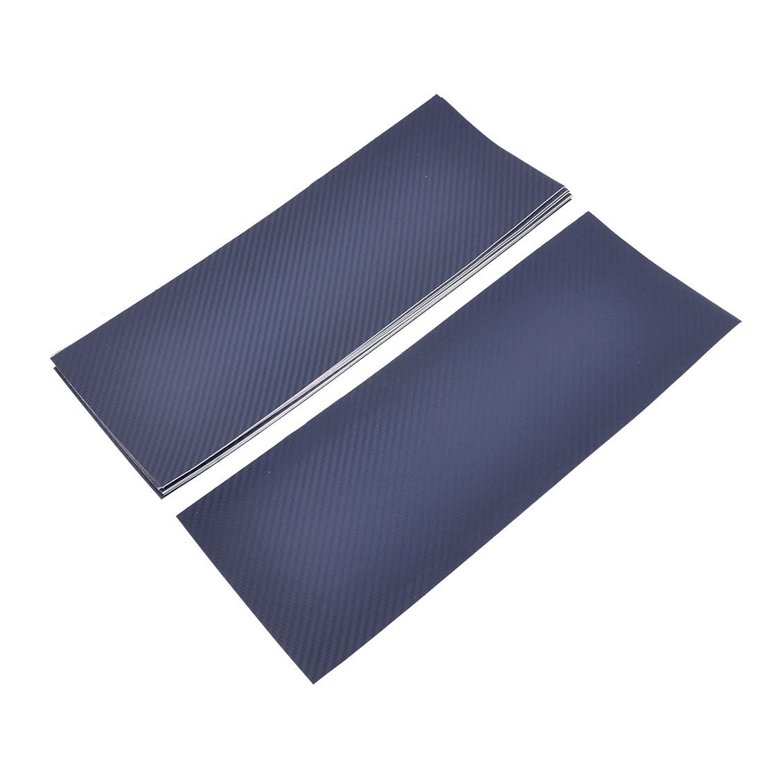 20pcs Auto Glass Decor Self-Adhesive 3D 36x14cm Carbon Fiber Modified Steel Blue