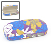 Yellow Blue Flower Printed Flannel Lining Glasses Eyeglasses Case